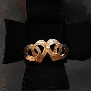 Vintage Chanel heart clip on earrings